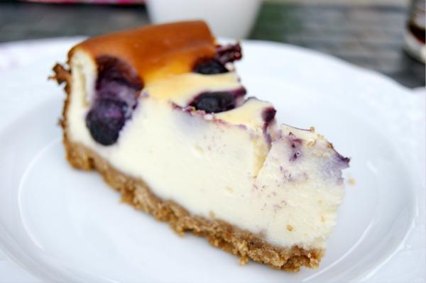 amerikansk cheesecake bagt