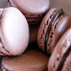 Chokolade macarons med lakrids